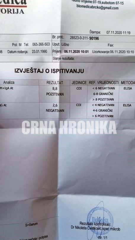 serološki pozitivan nalaz u BiH